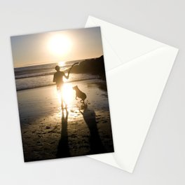 Man and His Best Friend Stationery Cards