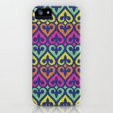 Fleur De lis & Hearts Slim Case iPhone (5, 5s)