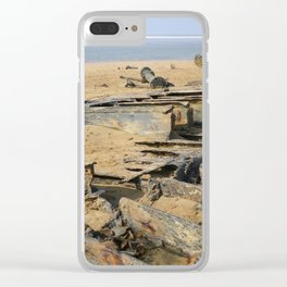 1917 WRECK OF THE STEAMSHIP BELEM NORTH CORNWALL Clear iPhone Case