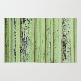 Rustic mint green grunge wood panels Rug