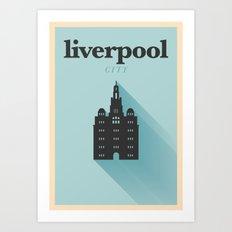 Minimal Liverpool Poster Art Print