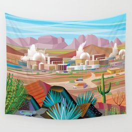 Power Generating Station in Desert Wall Tapestry