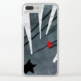 Red Riding Hood and the wolf Clear iPhone Case