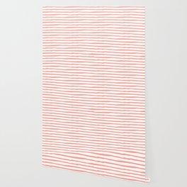 Pink Drawn Stripes Wallpaper