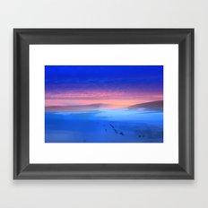 Blue is the colour Framed Art Print