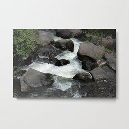 Whitewater Rapids at Peguche Falls Metal Print