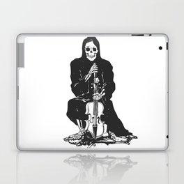 Violinist skull - grim reaper - cartoon skeleton - halloween illustration Laptop & iPad Skin