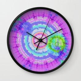 Circling the Blue Wall Clock