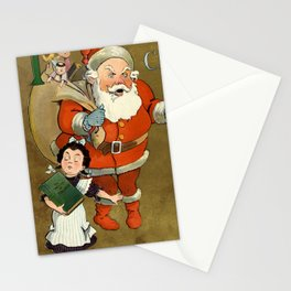 1901 Puck Magazine Christmas issue Santa children Stationery Cards