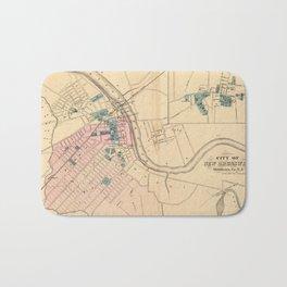 Vintage Map of New Brunswick NJ (1872) Bath Mat
