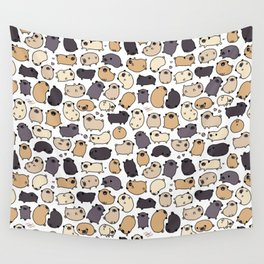 Pug Life Doodle Wall Tapestry