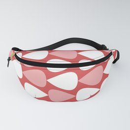 Plectrum Pattern in Blush Pink, White, and Pinkish Red Fanny Pack