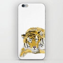 Sleepy Tiger iPhone Skin