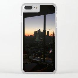 DTLA Sunset Clear iPhone Case