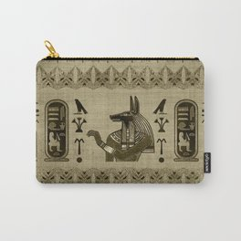 Egyptian Anubis Ornament Carry-All Pouch