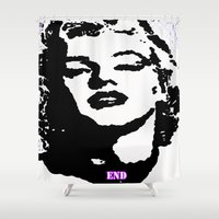 monroe Shower Curtains featuring  Monroe by End One Art