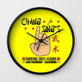 Chang Sing's Martial Arts School Wall Clock