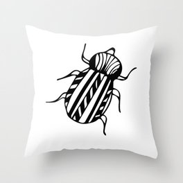 Escarabajo Throw Pillow