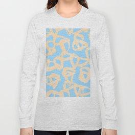 Sweet Life Triangle Dots Orange Sherbet + Blue Raspberry Long Sleeve T-shirt