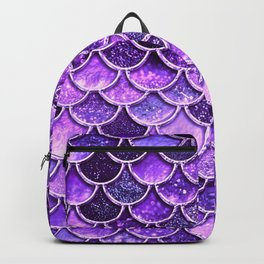 Pantone Ultra Violet Glitter Ombre Mermaid Scales Pattern Backpack