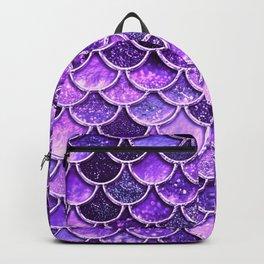 Pantone Ultra Violet Glitter Ombre Mermaid Scales Pattern Backpack