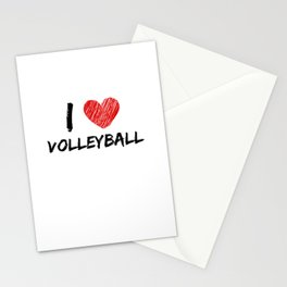 I Love Volleyball Stationery Cards