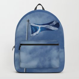 Scottish Photography Series (Vectorized) - Saltire Flag Flying Backpack