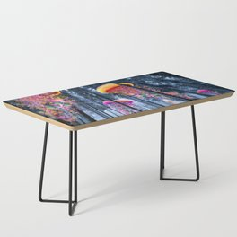 Winter Forest of Electric Jellyfish Worlds Coffee Table