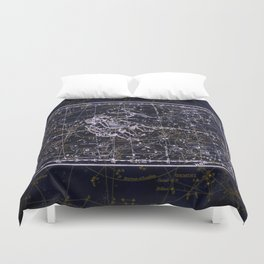 Gemini, Constellation map, Zodiac, Sign sky, Stars, Universe, astrology, astrological, signs, birth Duvet Cover