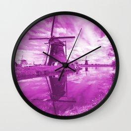 Pink Windpump Wall Clock