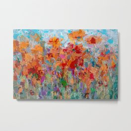 The Visionary Poetry Abstract Painting by OLena Art Metal Print