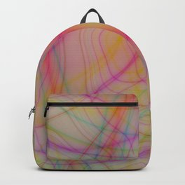 Colorful wavy lines Backpack