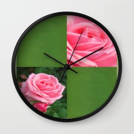 Pink Roses in Anzures 2 Blank Q5F0 Wall Clock