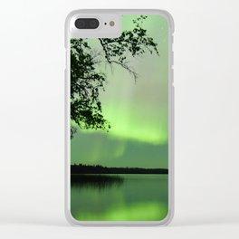 Aurora Borealis Reflection Clear iPhone Case