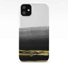 Black & Gold Stripes on White - Mix & Match with Simplicty of life iPhone Case
