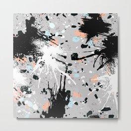 Abstract Splatter Artwork Metal Print