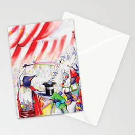 Circus Penguins Stationery Cards