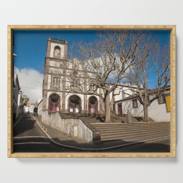 Church in Ponta Delgada Serving Tray