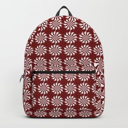 Red pattern - background abstract, vector, circle texture design. Backpack