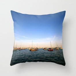 Lake Michigan Sailboats Throw Pillow