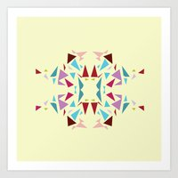 Geometrics: Snowflake V1 Art Print