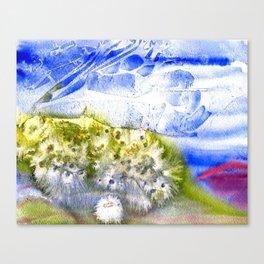 Banana River Shoreline in Bloom Canvas Print