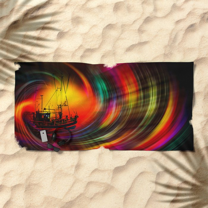 Time Tunnel 3 Beach Towel