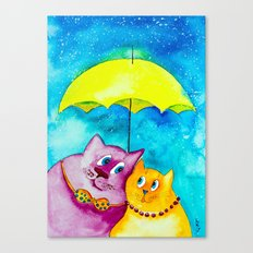 Two under the umbrella Canvas Print