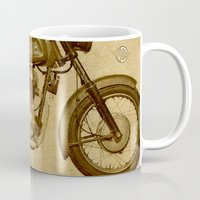 ducati Mugs featuring Ducati motorcycle Meccanica by Larsson Stevensem