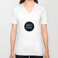 aquarius V-neck T-shirts featuring Aquarius by rusanovska