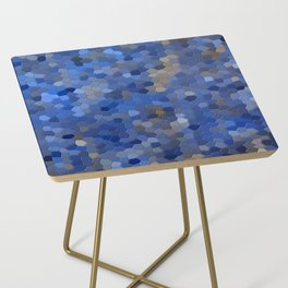 Blue mosaic tile abstract Side Table