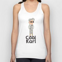 karl Tank Tops featuring cool karl by sofiefatale