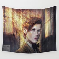 doctor Wall Tapestries featuring Eleventh Doctor by jasric