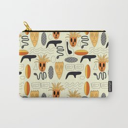 African Masks Pattern Carry-All Pouch